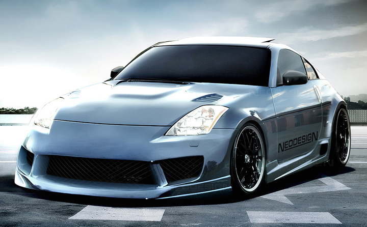 Nissan Z350 side skirts